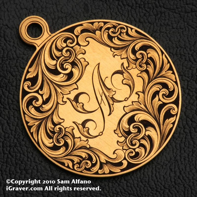 Sam alfano engraver jewelry engraving relief engraved pendant aloadofball Gallery