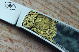 Gold Overlay Lion & Scroll